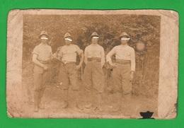 Alpini Foto Di Gruppo 4 Militari Foto Anni 1915 1920 Circa Zona Friuli - War, Military