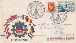 LETTRE COVER. FRANCE. 1957 FOIRE DE PARIS - Stamps
