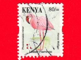 KENIA - Usato - 2014 - Uccelli - Fenicotteri - Lesser Flamingo (Phoeniconaias Minor) - 80 - Kenia (1963-...)
