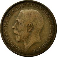 Monnaie, Grande-Bretagne, George V, 1/2 Penny, 1925, B+, Bronze, KM:809 - 1902-1971 : Monnaies Post-Victoriennes