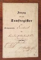 SVIZZERA SUISSE KANTON BERN CANTONE DI BERNA 1855  DOCUMENTO CON BOLLO A SECCO DI 8 RAPPEN - Italia