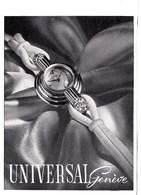 Pub: 1946  Universal Genève Montres  TBE - Publicités
