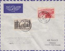 LETTRE COVER. FRANCE. 1947. PARIS AVIATION. V° CENTENAIRE DE LA DECOUVERTE DE LA GUINEE PORTUGAISE PREMIERE LIAISON - Stamps