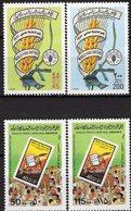 Menschenrechte 1981 Libya 875/6+938/9 ** 7€ Pflug Ähre Im Schriftband Grünes Buch Stamps On Stamp # 622 Sets Bf UNO - Contro La Fame