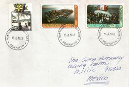 Lettre De L'ile Penrhyn  (Northern Cook Islands) Ocean Pacifique, Adressée Au Mexique. Photos Recto-verso - Penrhyn