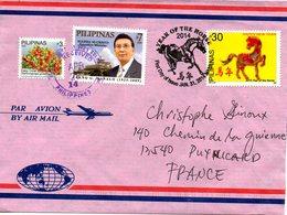 PHILIPPINES. Enveloppe 1er Jour De 2014 Ayant Circulé. Année Du Cheval. - Chinese New Year
