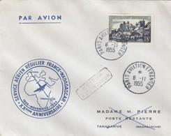 LETTRE COVER. FRANCE. 1955. FRANCE-MADAGASCAR - Stamps