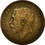 Monnaie, Grande-Bretagne, George V, 1/2 Penny, 1921, B+, Bronze, KM:809 - 1902-1971 : Monnaies Post-Victoriennes
