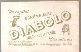 Buvard DIABOLO Ecrémeuse Machines à Traire - Agriculture