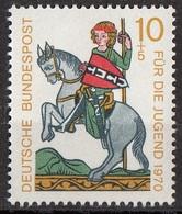 Germania 1970 Sc. B455 Minnesingers Menestrello Ritratto Di Heinrich Von Rugge MNH - Arte