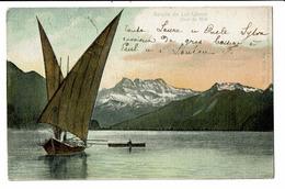 CPA - Carte Postale -Suisse-Une Barque Sur Le  Lac Léman - Dents Du Midi- S5000 - GE Geneva
