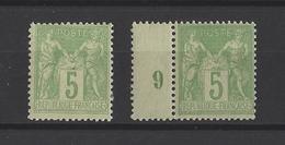 FRANCE  YT  N° 102-106  Neuf *  1898 - 1876-1878 Sage (Type I)