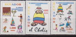 Ecuador 1998 GIOCHI SUD AMERICANI SPORTS 1425/27 - Tennis Tavolo