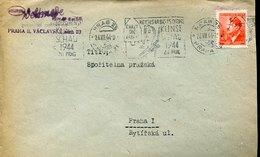 41553 Boemia & Moravia, Circuled Cover 1944 Prag  Kunstschau 1944 Zu Prag, Art Exhibition Of Prag 1944 - Bohême & Moravie