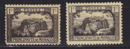 """Monaco N°60*+60a* (gris-noir Sur Jaune + Variété """"ballon Dans Le Ciel"""" - Neufs"""