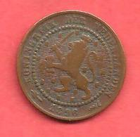 1 Cent , PAYS BAS , Bronze , 1896 , N° KM # 107 - [ 2] 1795-1814 : Napoleonic And French Protectorate/Domination