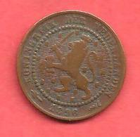 1 Cent , PAYS BAS , Bronze , 1896 , N° KM # 107 - [ 2] 1795-1814 : Protectorado Francés & Napoleónico