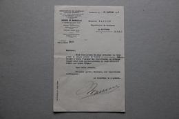 Lettre En-tête Messageries De Journaux-Librairie Hachette à Marseille (Bouches-du-Rhône), 1938 - Vieux Papiers