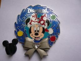 Big Pin S Disney Minnie Double Moule Tirage 2000 Ex 5 X 4,5 Cm Neuf - Disney