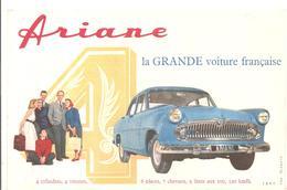 Buvard ARIANE La Grande Voiture Française 4 Cylindres 4 Vitesses - Automobile