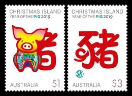 Christmas Island 2019 Mih. 900/01 Lunar New Year. Year Of The Pig MNH ** - Christmas Island