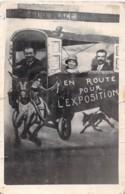 Lot De 3 Cartes *** Real Photo / Carte Photo *** Humour - Caricature EN ROUTE POUR L'EXPOSITION ( Vendée Noirmoutier ?) - Humour