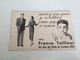 Buvard Ancien FRANCE TAILLEUR RUE DES PONTS DE COMINES LILLE NORD - Textile & Clothing