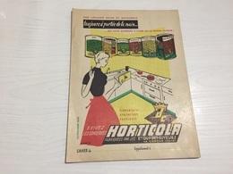 PROTÈGE CAHIER Ancien LÉGUMES HORTICOLA DUPONT CUVELIEZ LA GORGUE NORD - Protège-cahiers
