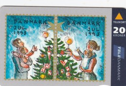 Denmark, JS 018 A , Christmas Card From 1993, Only 25.000 Issued, 2 Scans. - Denmark