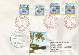 Lettre De L'ile De Majuro. Marshall Islands. Océan Pacifique, Adressée Au Mexique,avec Timbre à Date Arrivée - Marshall