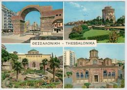THESSALONIKA    4  VIEWS         (VIAGGIATA) - Grèce