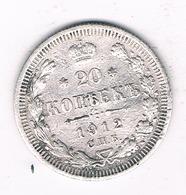 20 KOPEK 1912   RUSLAND /0427/ - Russia