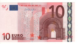 "10 EURO  ""X"" Germany    Firma  DRAGHI     P 017 F2     X71  /  FDS - UNC - EURO"