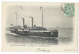 CPA Boulogne Sur Mer  Steamer La Marguerite Bateau Navire - Boulogne Sur Mer