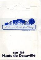 Dépliant Plastifié - Sur Les Hauts De Deauville - Le Domaine Privé Du Mont Canisy - Les Manoirs Du Golf - 1ère Tranche - Publicités