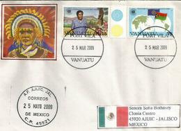 Lettre De Port Vila Adressée Au Mexique, Avec Timbre à Date Arrivée - Vanuatu (1980-...)
