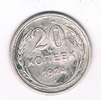 20 KOPEK 1924 CCCP  RUSLAND /0428/ - Russia