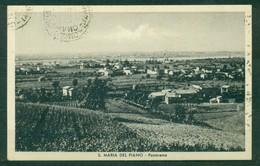 CARTOLINA - PARMA - CV2208 S. MARIA DEL PIANO ( PR) Panorama, FP, Viaggiata 1950 Per Milano, Segni Di Timbri Sul Fronte - Parma