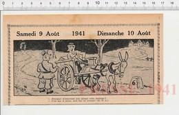 2 Scans Humour 1941 Ane Aveugle Charette Sans Lanterne éclairage Routier Obligatoire Ognon Pied Pédicure Pédiluve 223XS - Non Classés