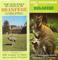 2 Dépliants  -  LE  GERNO  (56)   Parc Zoologique Du Chateau De Branféré - 2000 Animaux En Liberté - Publicités