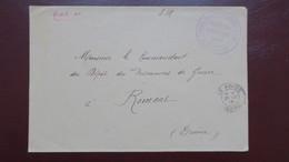 Lettre En Franchise Hôpital Temporaire Municipal N° 110 Bis Péage De Roussillon Isere 1916 Pour Romans - Marcophilie (Lettres)
