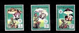 Serie De Mauritania Nº Yvert 643/45 ** SETAS (MUSHROOMS) - Mauritania (1960-...)