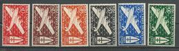 INDE FRANCAISE Scott C1-c6 Yvert PA1-PA6 (6) * Cote 8,80 $ 1942 - Neufs