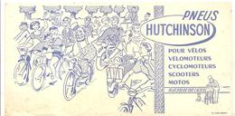 Buvard PNEUS HUTCHINSON Pour Vélos, Vélomoteurs, Cyclomoteurs, Scooters Motos - Bikes & Mopeds