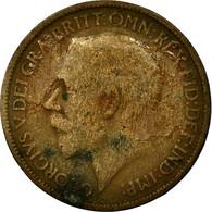 Monnaie, Grande-Bretagne, George V, 1/2 Penny, 1914, B+, Bronze, KM:809 - 1902-1971 : Monnaies Post-Victoriennes