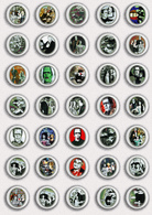 35 X The Munsters Movie Film Fan ART BADGE BUTTON PIN SET 1 (1inch/25mm Diameter) - Films
