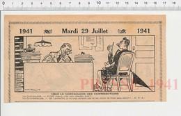 2 Scans Humour 1941 Dot Mariage / Contrôleur Des Contributions Impôts Perception ?? 223XS - Non Classés