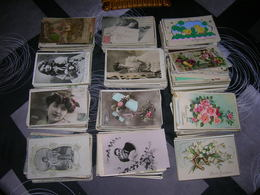 Lot 1000 Cartes Postales Fantaisie Format 9x14 Artiste Enfant Femme Paysage Animaux Couple Fleurs Voeux Decoupis Etc - Cartes Postales