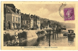 DIEPPEDALLE-FORET Quai De Danemark  Ed. Chauvin 5, Envoi 1933 - France