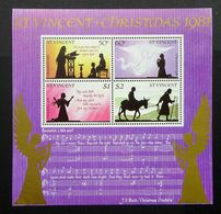 St Vincent 1981 Mi.BL15 Christmas Minisheet Mint Never Hinged. - St.Vincent (1979-...)